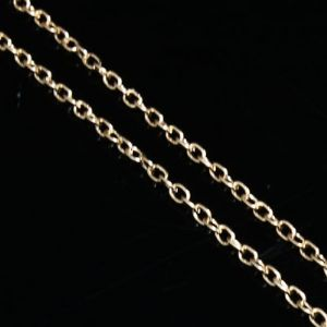 Metal chains, High quality metal alloy, Mustard, 2m, 2mm, 3mm, (ZLB0025)